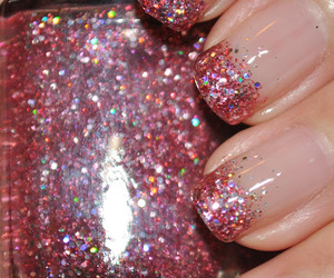 girly, glitter, and nail polish image