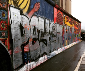 berlin, street art, and the wall image