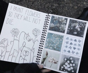 die, draw, and flowers image