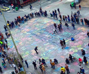 brussels, belgium, and chalk image