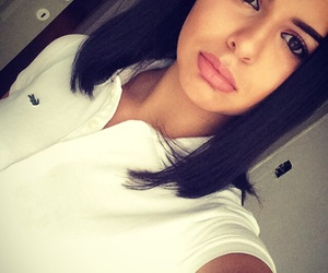 eyebrows, girl, and lacoste image