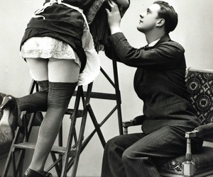pantyhose, vintage, and love image