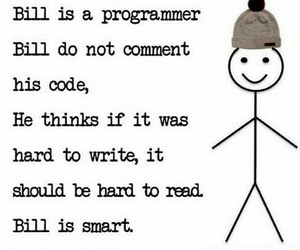 bill, code, and comment image