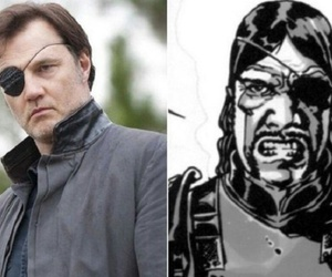 the walking dead, david morrissey, and le gouverneue image
