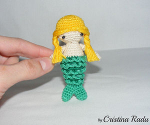 etsy, little mermaid, and crochet mermaid image