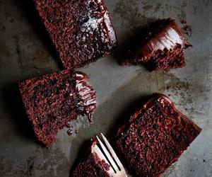 cake, chocolate, and Baileys image