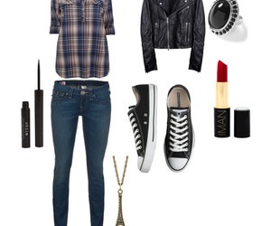 converse, leather, and outfit image