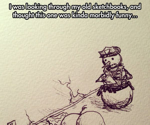 funny, snowman, and humor image