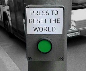 world, reset, and button image