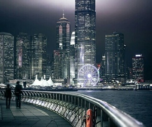 city, lights, and outdoors image