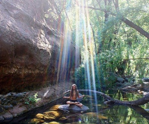 nature, peace, and hippie image
