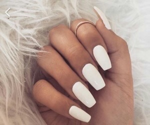 nails, white, and 💅 image