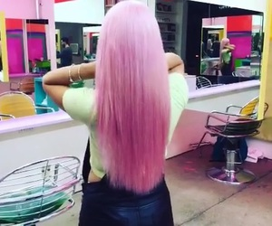 c, hair, and pink image