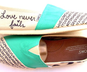 toms, shoes, and quote image