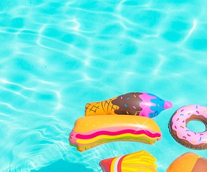 summer, wallpaper, and pool image
