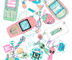 pink, cellphone, and kawaii image