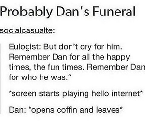 fandom, funeral, and youtube image