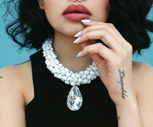piercing, nails, and tattoo image