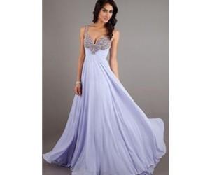 long dress, prom dress, and purple dress image