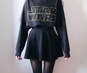 star wars, black, and girl image