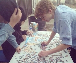 newt, thomas brodie sangster, and puzzle image