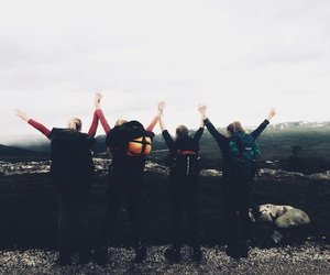 best friends, exploring, and freedom image