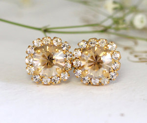 etsy, swarovski earrings, and bridesmaid gifts image
