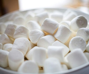 food, marshmallow, and white image