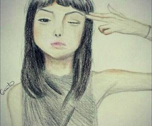 black, desenho, and drawing image