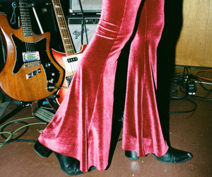 boots, flare, and guitar image