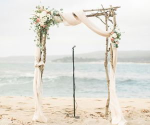 arch, flowers, and wedding image