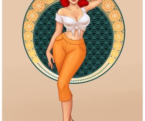 Pin Up, pinup, and redhead image