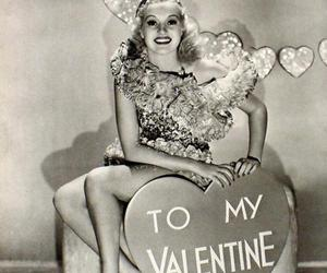 antique, girl, and valentine image
