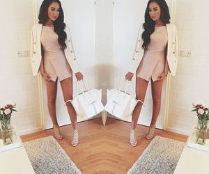 fashion, romper, and outfit image