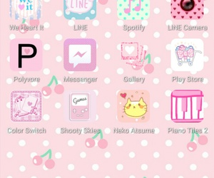 kawaii, pink, and homescreen image
