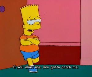 bart simpson, quote, and the simpsons image