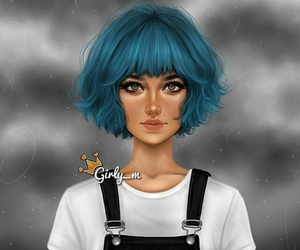 girly_m, girl, and art image