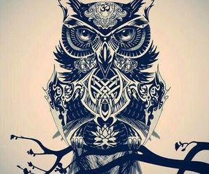 owl, tattoo, and art image