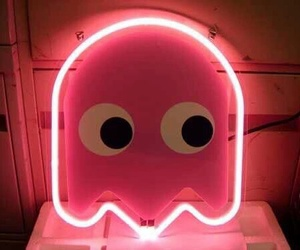 ghost, neon, and pacman image