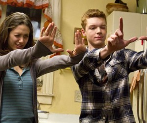 shameless, emmy rossum, and cameron monaghan image