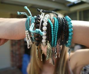 blonde, bracelet, and girl image