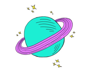 overlay, pastel, and planets image