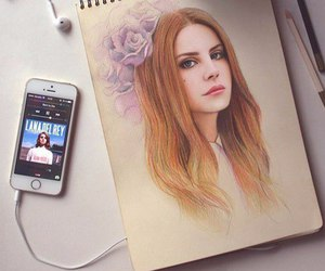 lana del rey, drawing, and music image