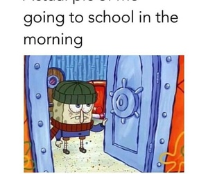 school, funny, and sponge bob image