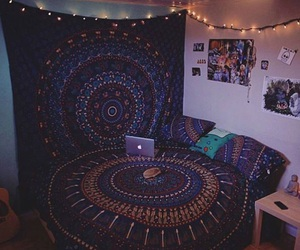 bedroom, bohemian, and indie image