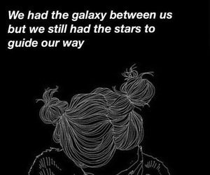 galaxy, quote, and tumblr image