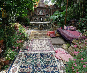 nature, garden, and hippie image