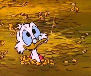 money, scrooge, and disney image