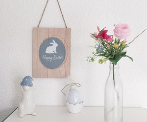 bunny, candle, and decor image