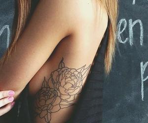 peonies and tattoo image